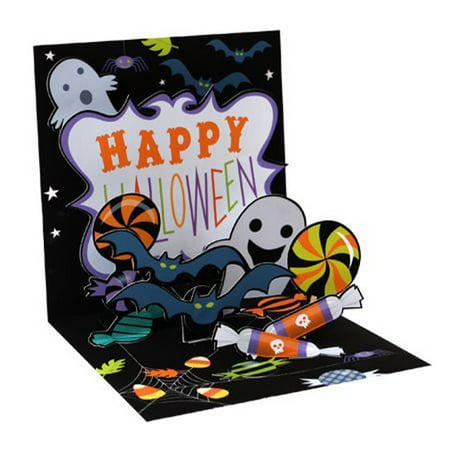 Up With Paper Halloween Treats Pop-Up Halloween Card - Halloween Pop Up Cards