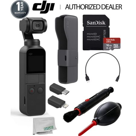DJI Osmo Pocket Handheld 3 Axis Gimbal Stabilizer with Integrated Camera Starters