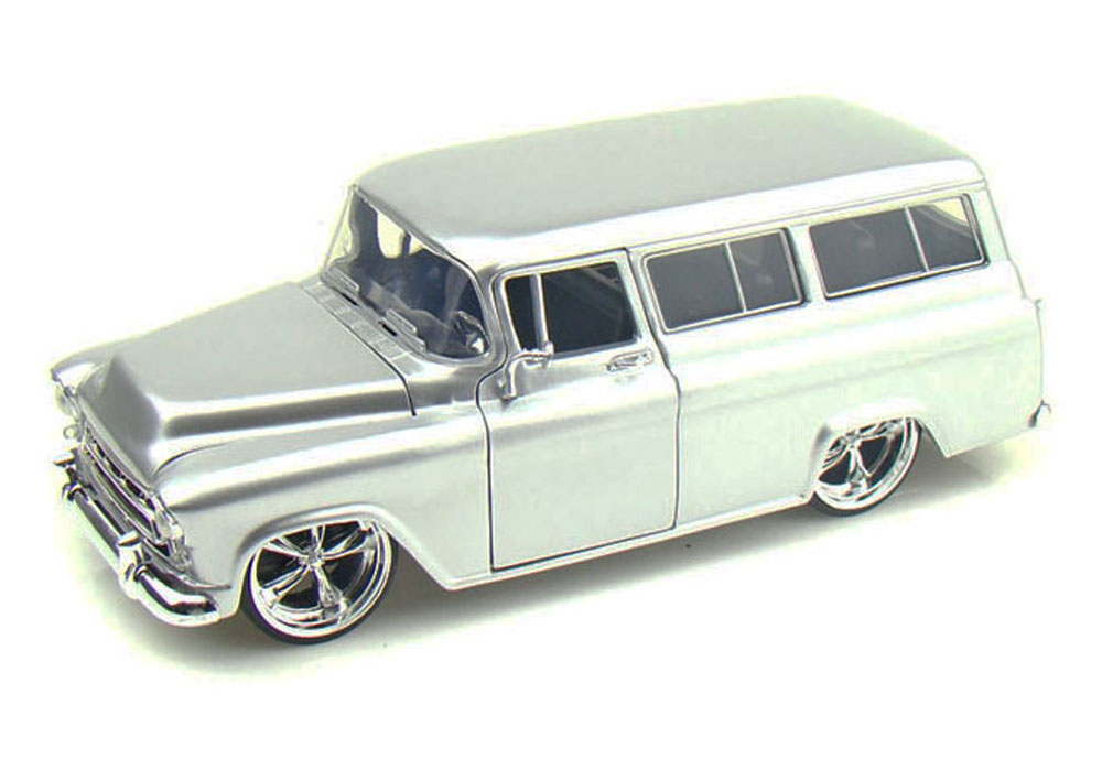 1957 Chevy Suburban, Silver Jada Toys Bigtime Kustoms 50267 1 24 scale Diecast Model Toy... by Jada