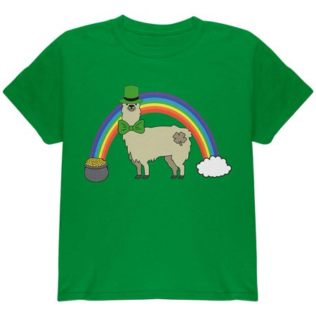 St Patrick's Day Pot Of Gold (St. Patrick's Day Llama Cute Pot Of Gold Youth T)
