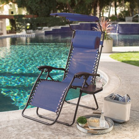 Anti Gravity Chair - Coral Coast Zero Gravity Chair with Drink Tray and Sunshade
