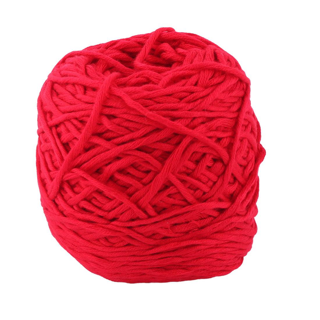 Acrylic Fiber Handmade Crochet Socks Gloves Scarf Knitting Yarn Cord Red 200g