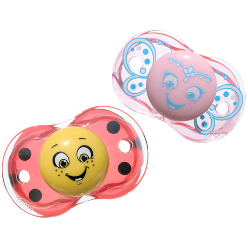 RazBaby - Keep-It-Kleen Pacifier Bundle, Ladybug/Princess