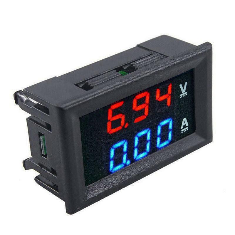 0-50A DC 0-100V Dual LED Digital Voltmeter Amperemeter Spannung AMP Leistung AHS