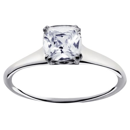 Sterling Silver 1 Carat Princess Cut Engagement Promise Ring for Women 9