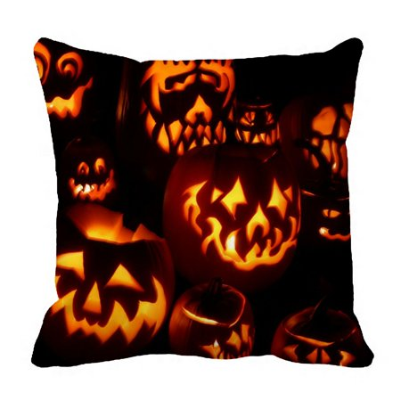 ZKGK Happy Halloween Pillowcase Home Decor Pillow Cover Case Cushion Two Sides 18x18 Inches
