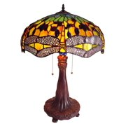 Chloe Lighting Dragonfly 26.5'' H Table Lamp with Bowl Shade