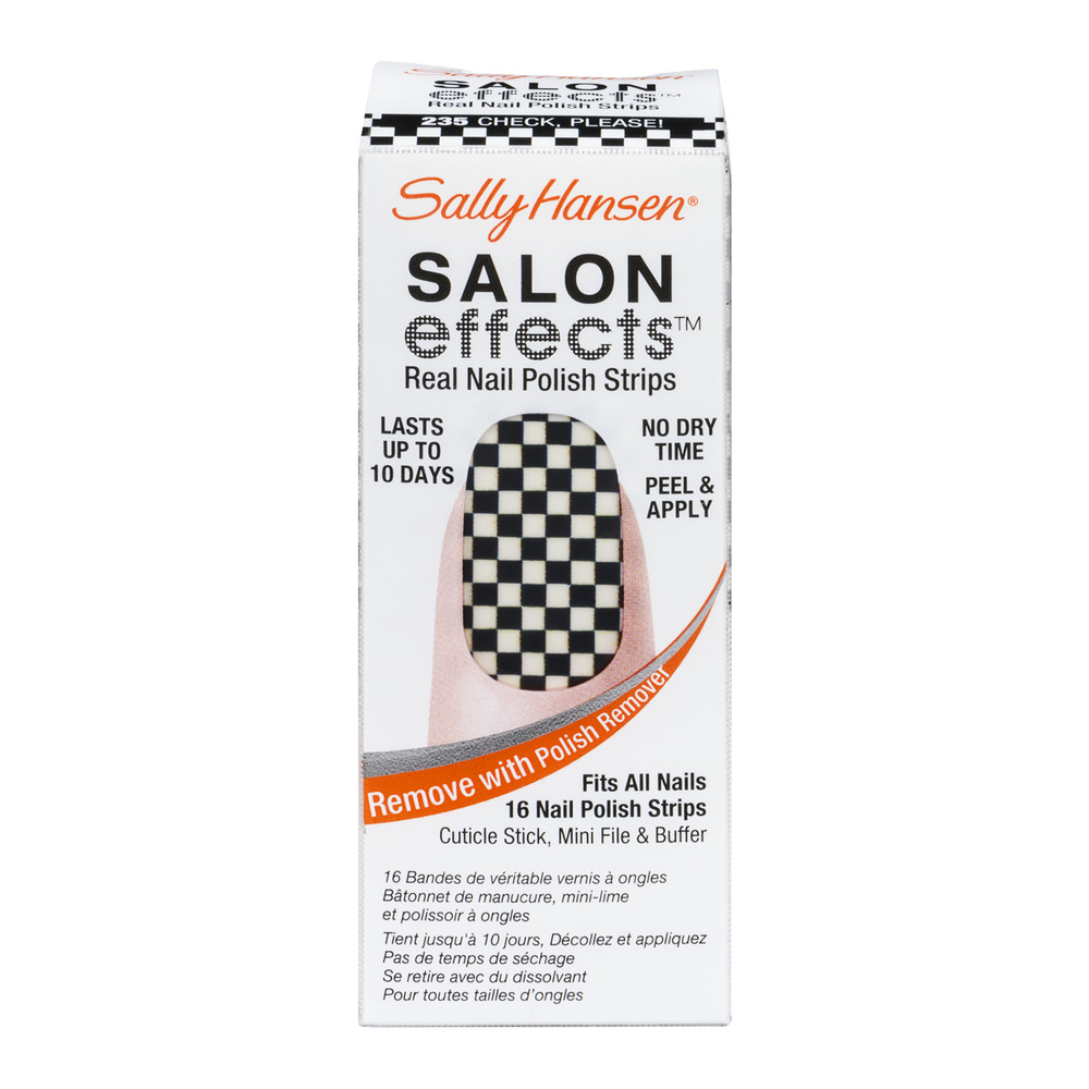 Sally Hansen Salon Effects Real Nail Polish Strips 235 Check, Please - 16 CT