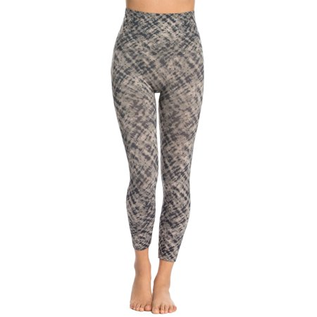 Spanx Womens Look At Me Now Cropped Printed Seamless Leggings Large L