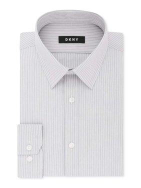 Light Mens Striped Long-Sleeve Dress Shirt 18