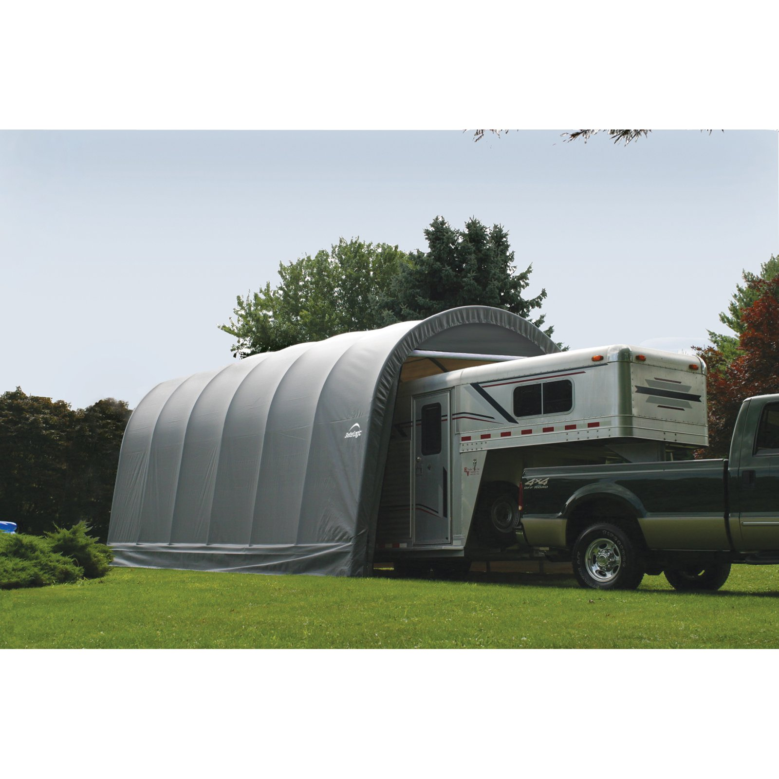 ShelterLogic 14' x 20' x 12' Round Style Shelter, Gray