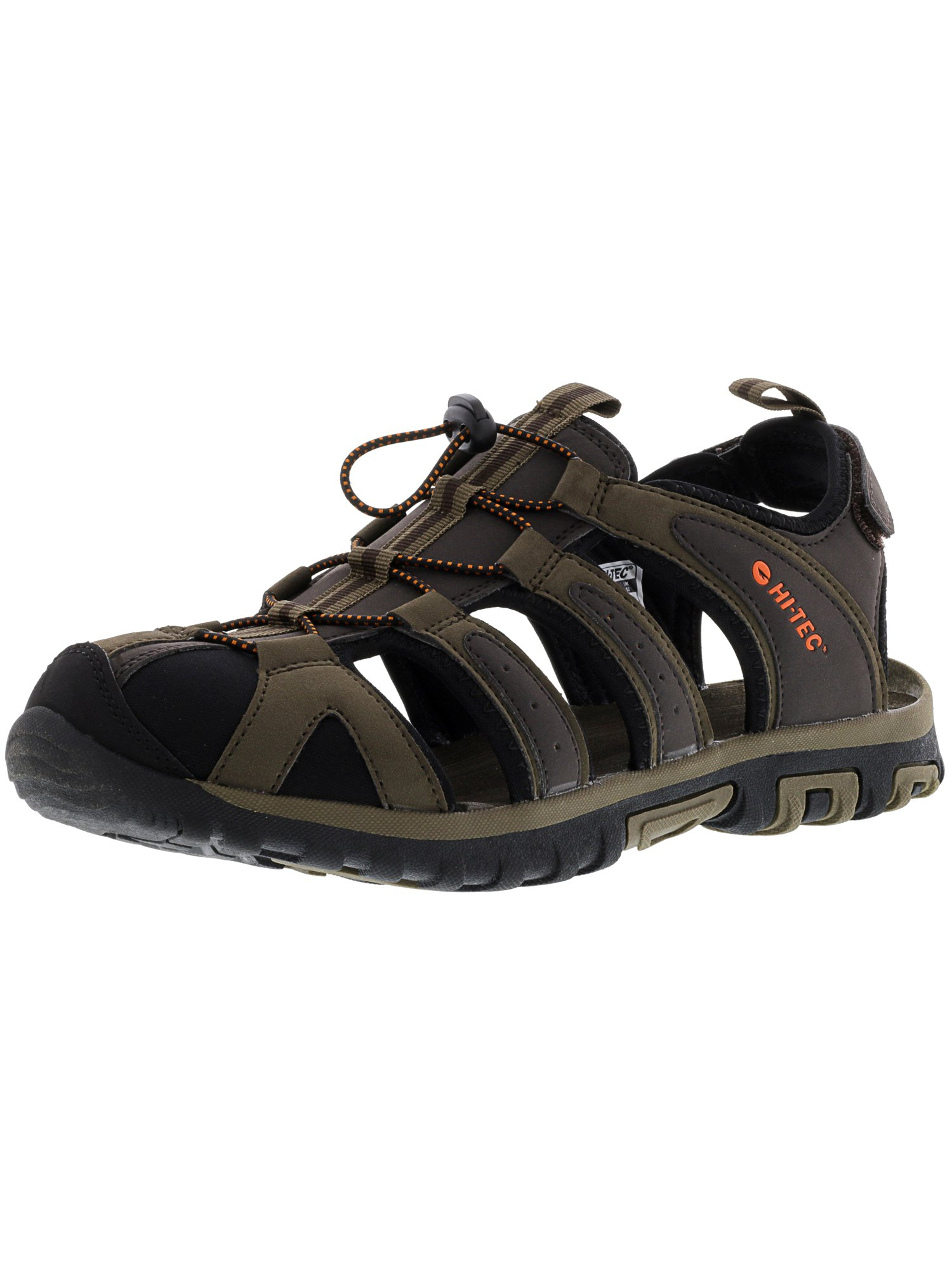 Hi-Tec Men's Cove Dark Chocolate   Burnt Orange Athletic Sandal 13M by Hi-Tec