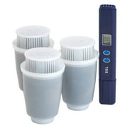 ZEROWATER Replacement Filters Compatible with Standard Brita Water Pitchers