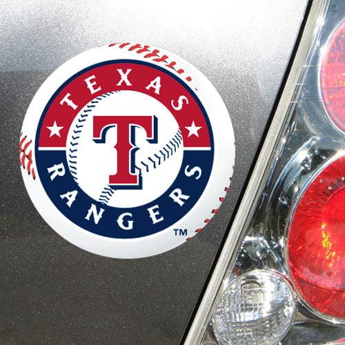 "Texas Rangers WinCraft 5"" Die-Cut Car Magnet - No Size"