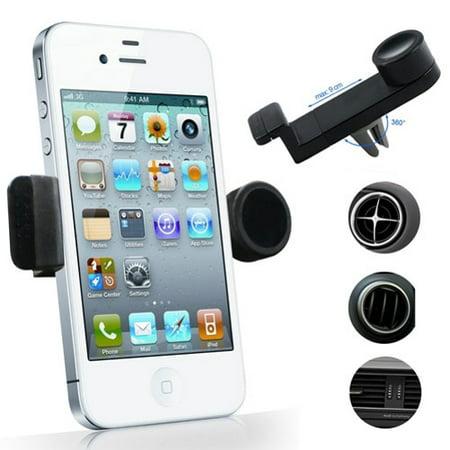 half off 7a529 c1369 iPhone 8 PLUS Car Mount AC Air Vent Phone Holder Rotating Cradle Swivel  Dock Black W1Q