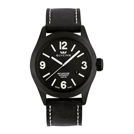 Incursore Automatic PVD Coated Steel Mens Strap Watch Calendar 3874.99T