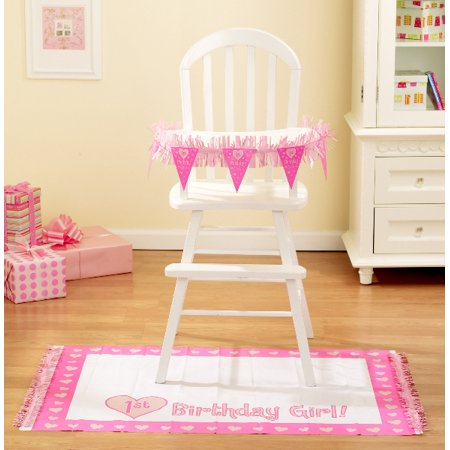 1st Birthday Girl High Chair Decorating Kit 2pc Walmartcom