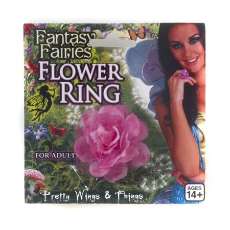 - Fantasy Fairy Spring Ring Pink Flower Jewelry Costume Accessory