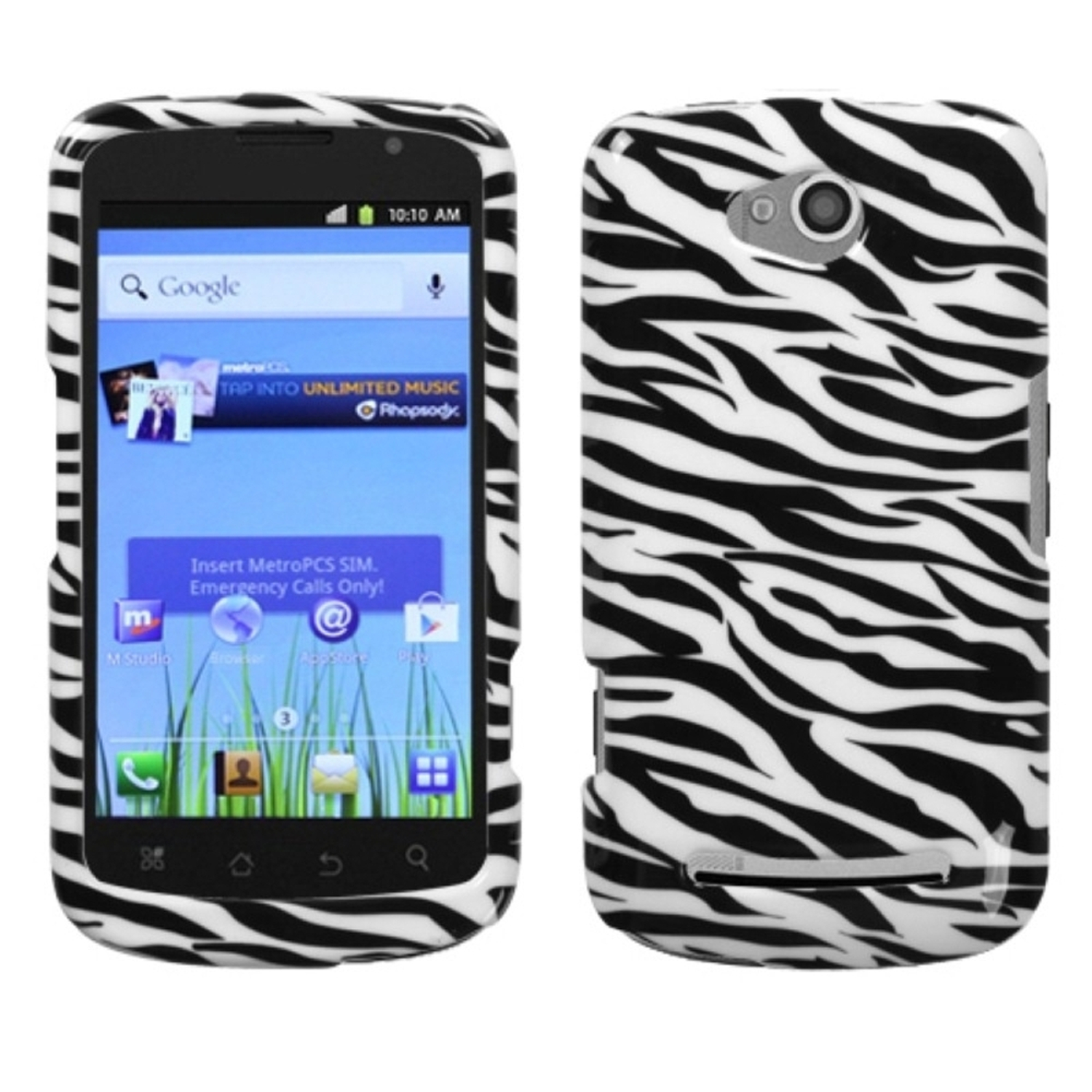 Insten Zebra Skin Phone Case for COOLPAD: 5860E (Quattro 4G)