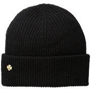 Anne Klein Fisherman Rib-Knit Cuff Hat Onyx Black OS