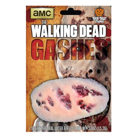 the walking dead: large walker gash zombie wound appliance - Gunshot Wound Halloween
