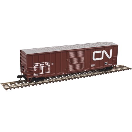 "Atlas N Scale ACF 50'6"" Boxcar Canadian National/CN (Noodle Logo) #419344"