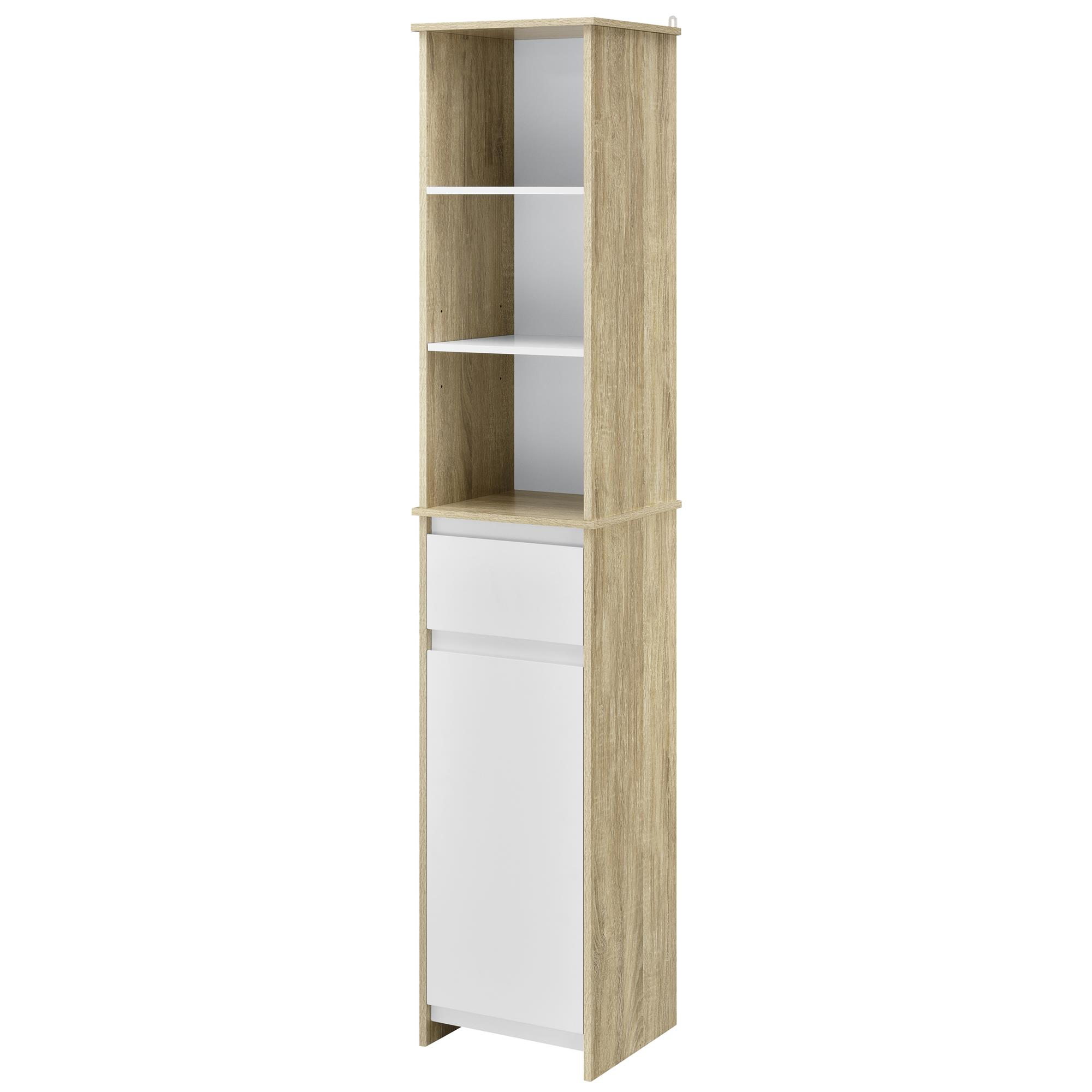 Mainstays Monticlare 3 Tier 1 Door Tall Bathroom Storage Linen Cabinet White Brickseek