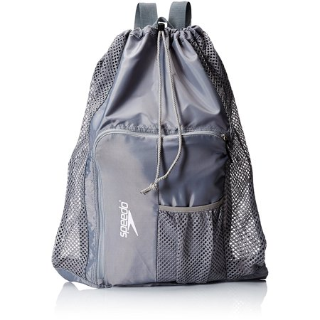 Deluxe Ventilator Mesh Equipment Bag Frost Grey Medium Sized Designed To Hold All Your Swimming Or Beach Essentials By Sdo