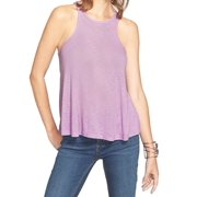Free People NEW Purple Women's Size Large L Ribbed Knit Tank Cami Top $39