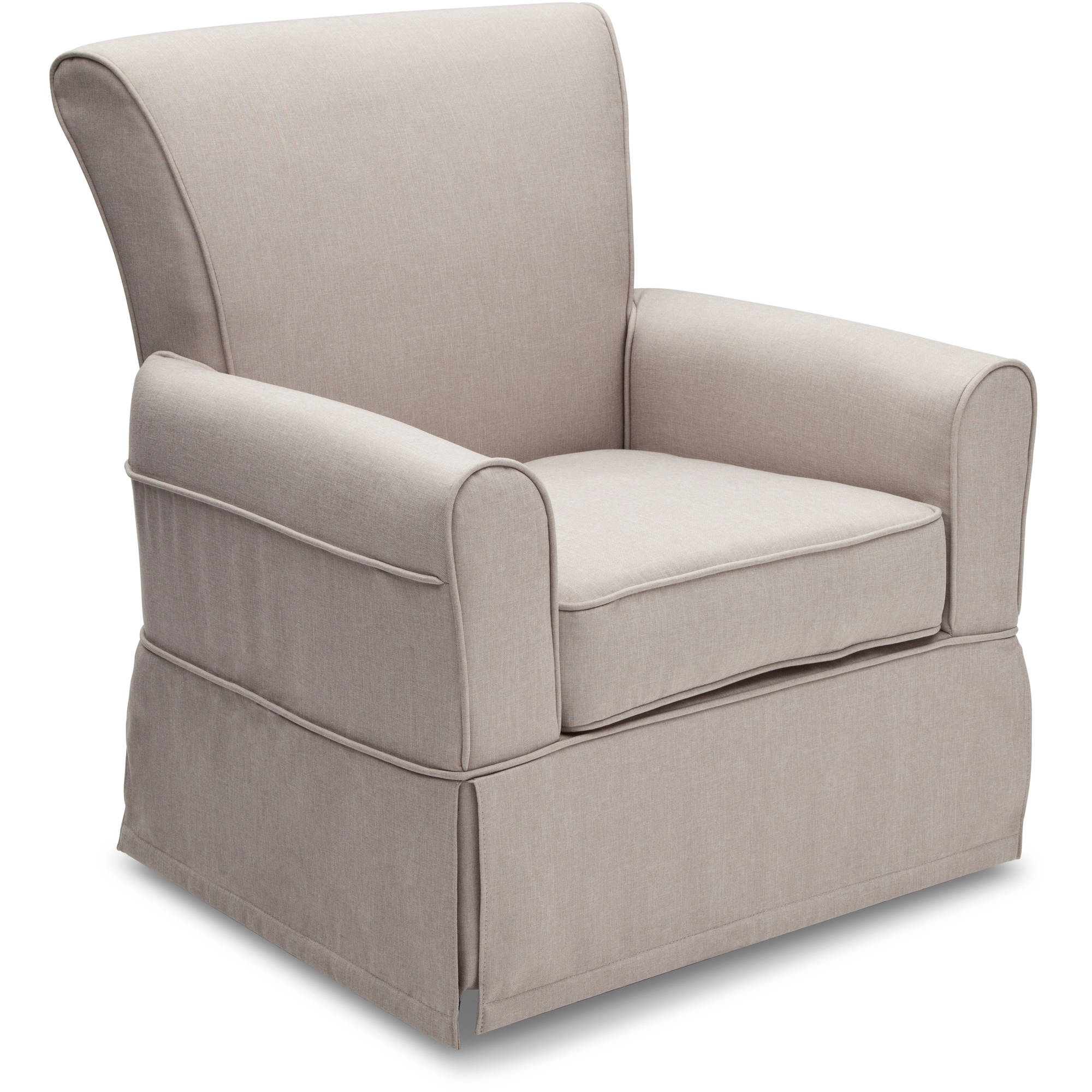 Delta Children Epic Nursery Glider Swivel Rocker Chair, Taupe