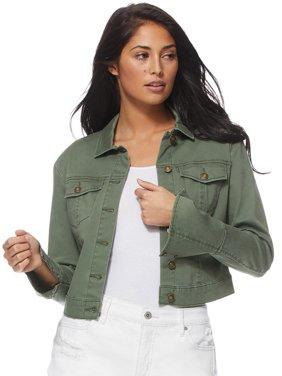 Sofia Jeans by Sofia Vergara Marianella Wrist Button Twill Jacket, Women's