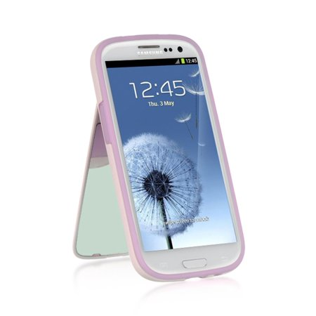 Insten Stand TPU Rubber Candy Skin Case Cover For Samsung Galaxy S3 GT-i9300, Purple](Samsung S3 Case)