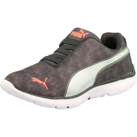 e04eeaac9aa2 PUMA - Puma Women s Fashin Alt Textile Black Silver Fiery Coral Ankle-High  Running Shoe - 10M - Walmart.com
