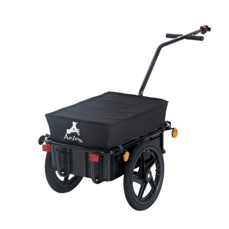 Double Wheel Internal Frame Enclosed Bicycle Cargo Trailer - (Best Enclosed Trailer For The Money)