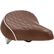 Schwinn Quilted Spring Bike Seat, Brown