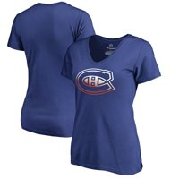 Montreal Canadiens Fanatics Branded Women's Gradient Logo V-Neck T-Shirt - Blue
