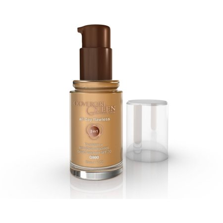 COVERGIRL Queen Collection 3 in 1 Foundation + Ensulizole Sunscreen SPF 20, Q800 Sand - Spider Queen Makeup
