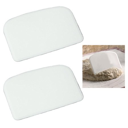 2 X Plastic Bowl Dough Scraper Pans Cutter Pastry Blade Pizza Kitchen Cake Tool for $<!---->