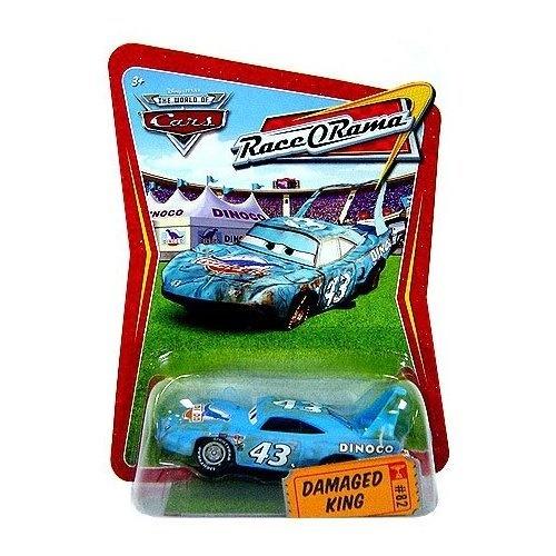 Disney   Pixar CARS Movie 1:55 Die Cast Car Series 4 Race-O-Rama DaMaged King by Mattel