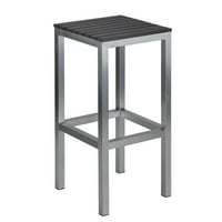 Cortesi Home Haven Backless Aluminum Outdoor Barstool