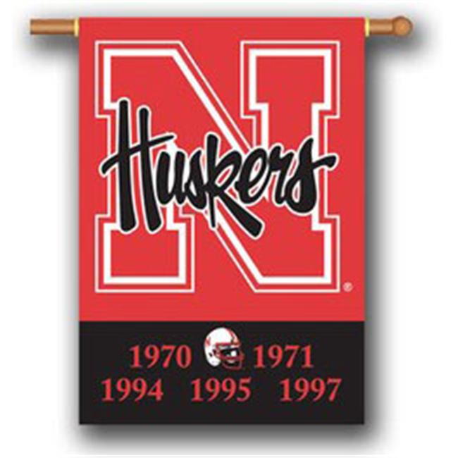 Nebraska Cornhuskers Double-Sided 28''x40'' Banner - Champion Years