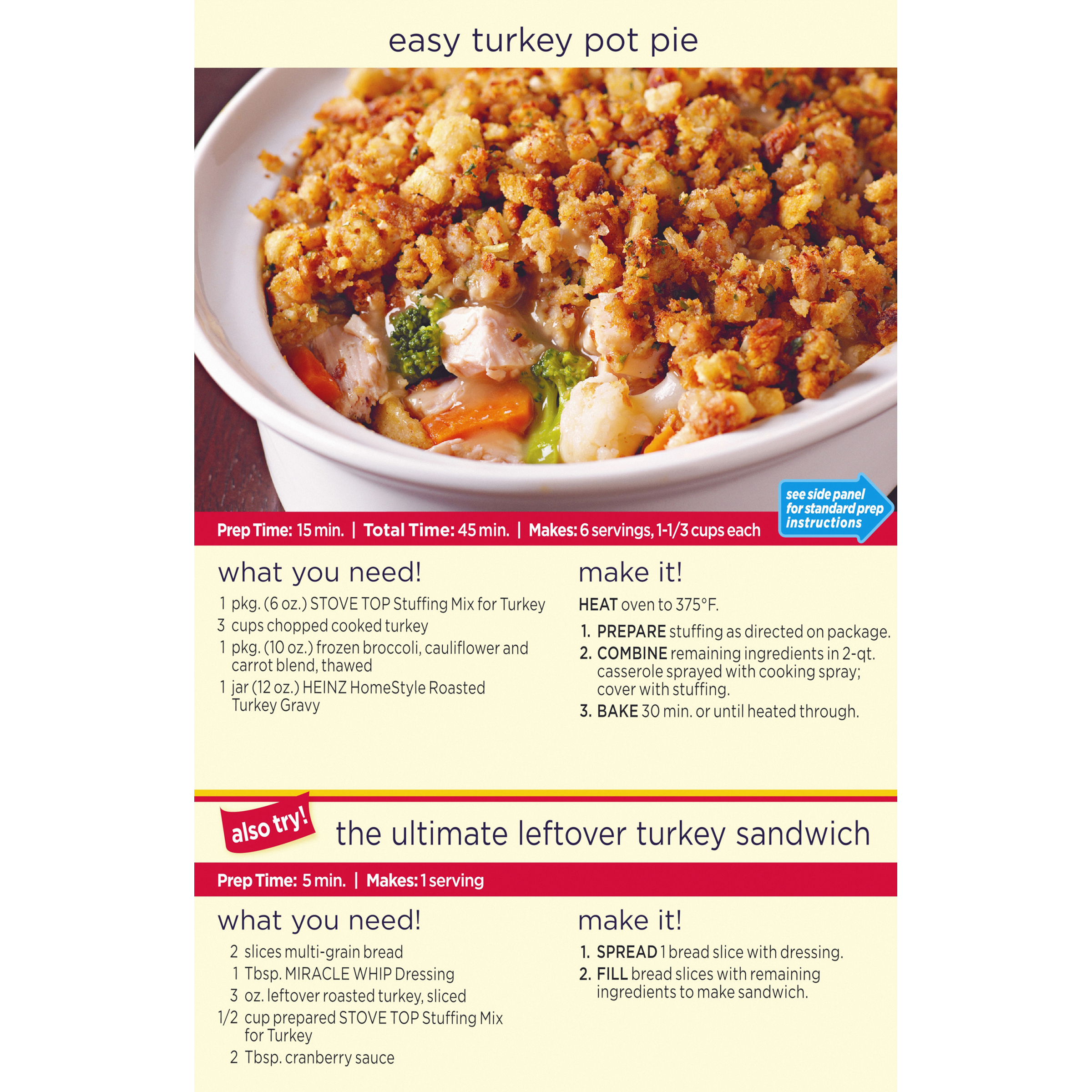 Stove Top Turkey Stuffing Mix, 6 oz Box