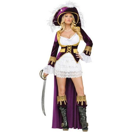 Caribbean Queen Adult Halloween Costume - Caribbean Queen Halloween Costume