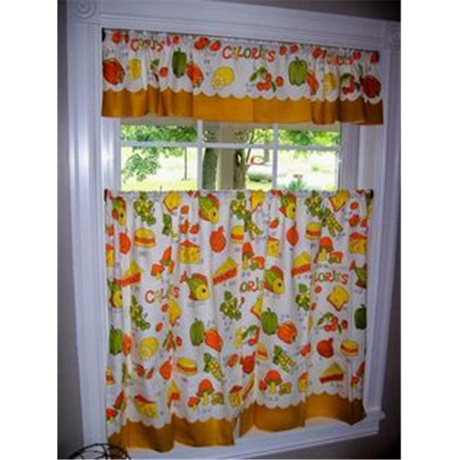 Rt Design Grand Vegetable Embroidered Kitchen Curtain Walmart Canada