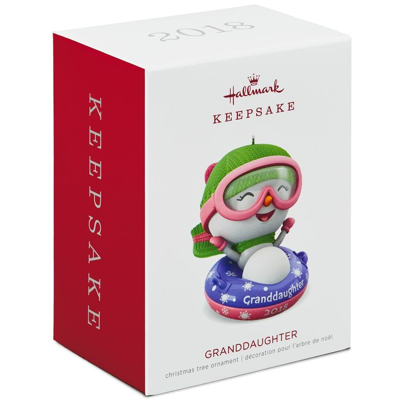 Hallmark Keepsake 2018 Granddaughter Snowman Ornament