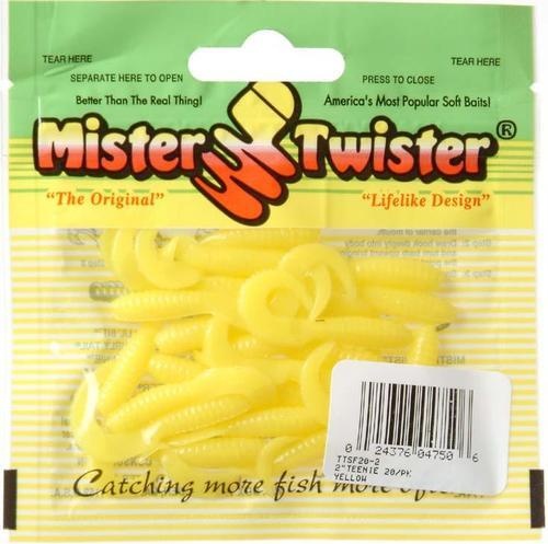 Mister Twister Teenie, Yellow, 2-Inch Multi-Colored
