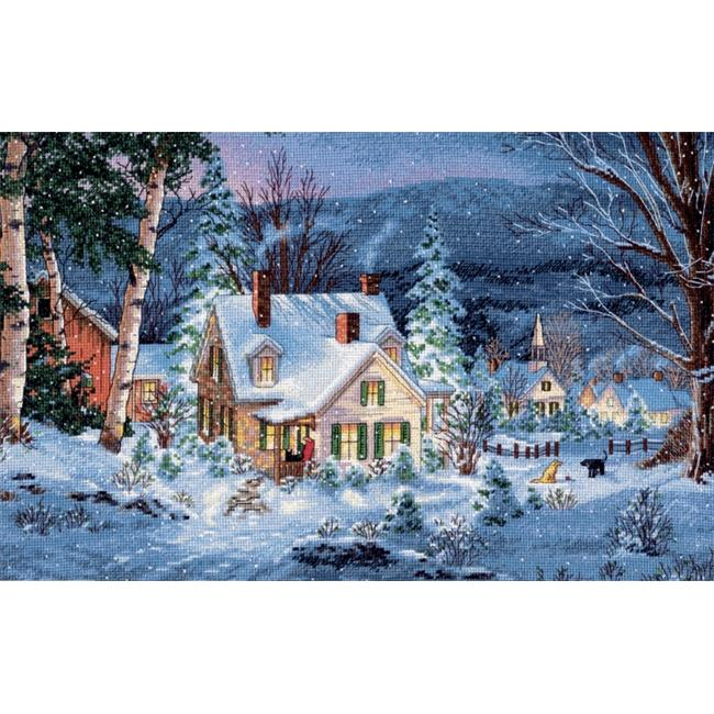 Gold Collection Winters Hush Counted Cross Stitch Kit-20 in. x 14 in. 16 Count