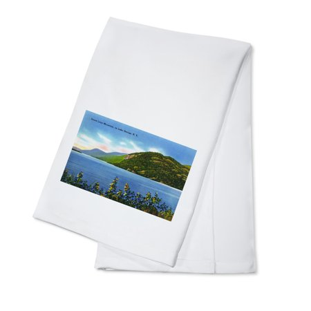 Lake George  New York   Lake View Of Deers Leap Mountain  100  Cotton Kitchen Towel