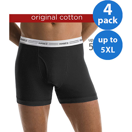 Hanes Big Men's 4 Pack Boxer Brief
