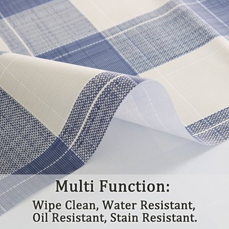"Tablecloth PVC Oil Stain Resistant Plaid Pattern for Rectangle Table 39""x63"",#7 - image 3 of 7"